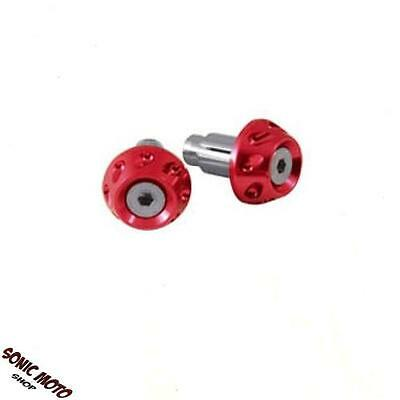 Kit Embouts Guidon 13&17mm Scooter Moto Equilibrage Universel  rouge