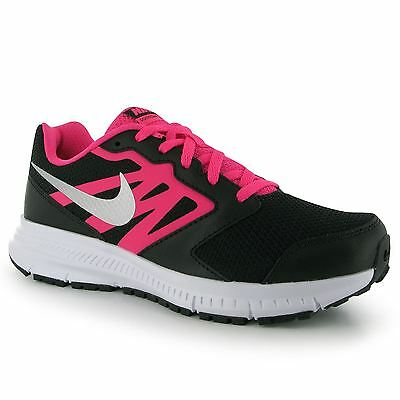 Nike Downshifter VI Running Trainers Junior Girls Blk/Silv/Pnk Sports Sneakers