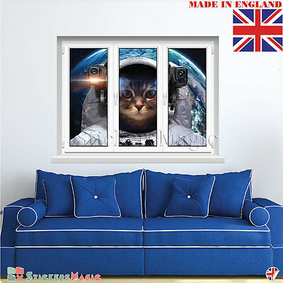 Gifts Presents for Cat Lovers Novelty Cute 3d Wall Art Sticker Vinyl Decal Large