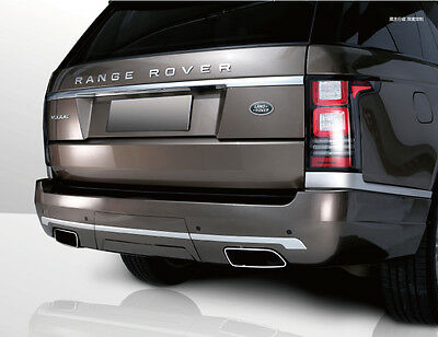 Rear Bumper body styling kit+Exhausts for Range Rover L405 2013 Santorini black