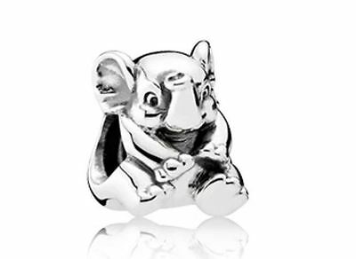 Authentic Genuine Pandora Sterling Silver Charm Oriental Bloom Lucky Elephant