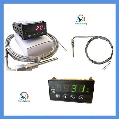 Egt Exhaust Gas Temperature Probe With 12V Digital Display Controller Pyrometer
