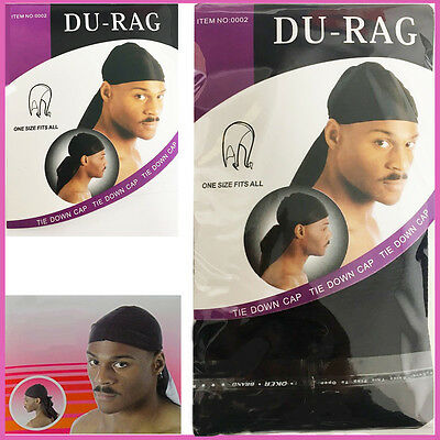 Rag Doo Durag Cap Head Du Skull Wrap Do Bandana Men Sports Headwear Scarf Biker