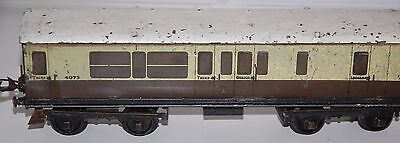 HORNBY SERIES O GAUGE No 2 COACH IN GREAT WESTERN RAILWAYS LIVERY (1293)