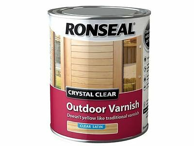 Ronseal - Crystal Clear Outdoor Varnish Satin 750ml