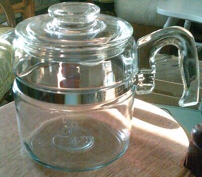 Pyrex Flameware coffee pot and lid only 7756- chipped lid