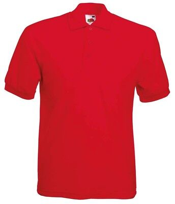 Fruit of the Loom Plain Short Sleeved Mens Polo Top Workwear PPE T-Shirt - SS402