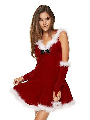 Ann Summers Womens Miss Hooded Santa Sexy Christmas Costume Outfit Fancy Dress
