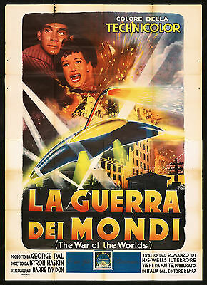 La Guerra Dei Mondi First Edition Movie Poster 4F War Of The Worlds Sci-Fi 1953
