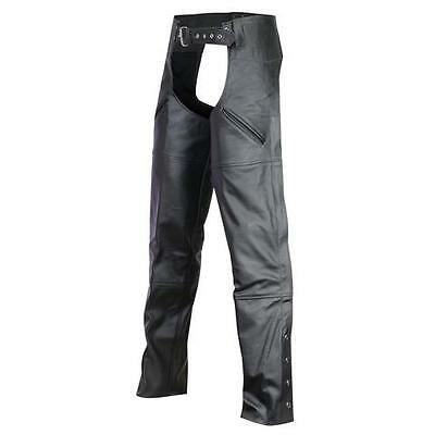 Vance Leather Deep Pocket Leather MOTORCYCLE BIKER Chaps 8 SIZES! CUT TO LENGTH