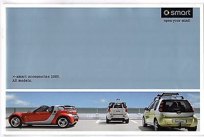 Smart Accessories 2004-05 UK Market Sales Brochure ForTwo ForFour Roadster