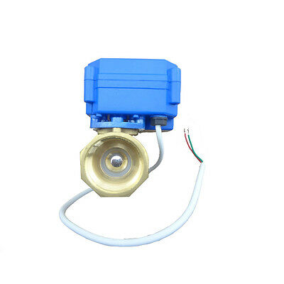 Motorized Ball Valve 12 VDC 3/4 inch Low Power High Flow Motor Driven Gas Water