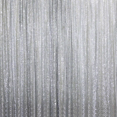 SILVER SEQUINS BACKDROP 20 10 ft Stage Party Wedding Catering Booth Decoration