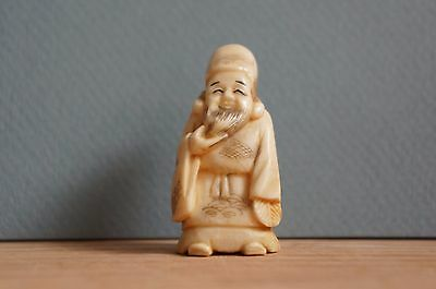 Superb Masterpiece Netsuke Style OKIMONO, japanese antique