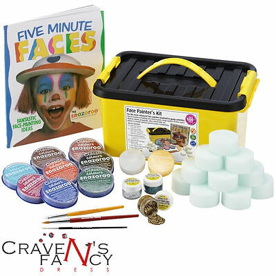 Snazaroo Professional Face Painting Paint 600 Faces Make up Kit Set Guide New