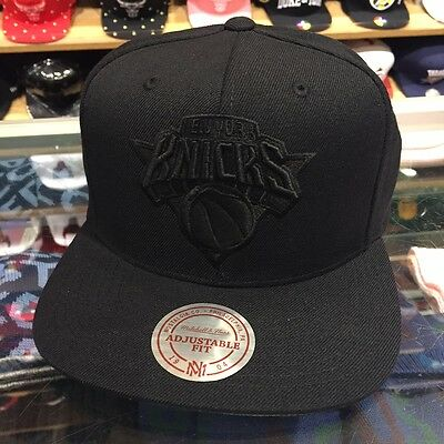 e9f64d1c4a1 ... cheapest mitchell ness new york knicks nba snapback hat cap all black  black grey c7c21 d40b4