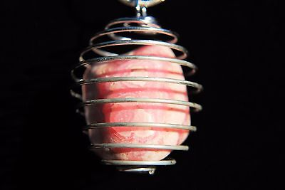 "CHARGED Rhodochrosite Crystal Perfect Pendant™ HEART TEACHER + 20"" Silver Chain"