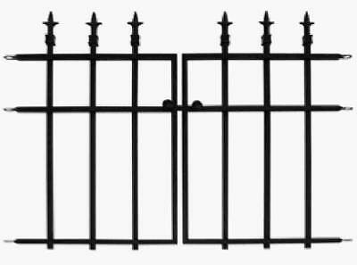 Panacea Products Corp-Import 87104 27 x 37 x 1-In. Black Garden Fence Section