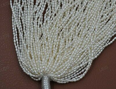 wholesale 10 strands 2mm white freshwater rice pearl lots
