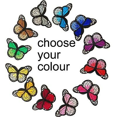 Butterfly iron on patch - Choose your colours - Bugs insect butterflies patches