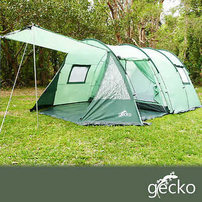 BRAND NEW 6 man person 3 room Gecko camping hoop tent