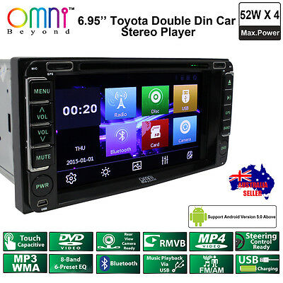 "Omni Toyota Button Double Din 6.95"" Bluetooth Usb Dvd Car Stereo Player"