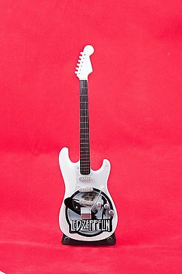 Miniature Guitar LED ZEPPLIN Guitar on Stand.  Includes Case