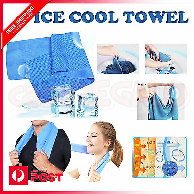 Cooling Towel UPF 50+ Ice Cold Odor Reducing Sports Gym Swimming Travel Camping