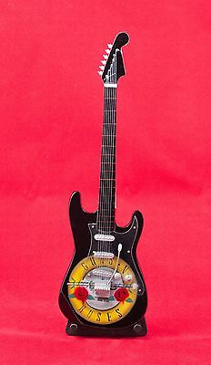 Miniature Guitar GUNS N ROSES Guitar on Stand.  Includes Case