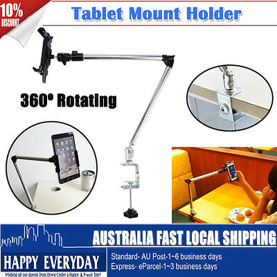 Adjustable Rotating Bed Tablet Mount Holder Stand For iPhone Samsung Table Home