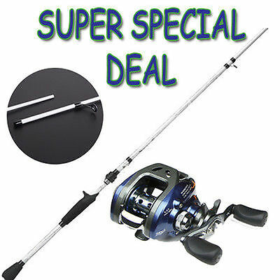 NEW Baitcaster Rod & Reel Combo  Fishing Tackle Fishing Rod Fishing Reel Value