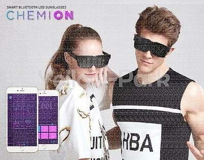 NEW CHEMION 2 Smart Bluetooth LED Sunglasses Club Party Sports Glasses GENUINE W