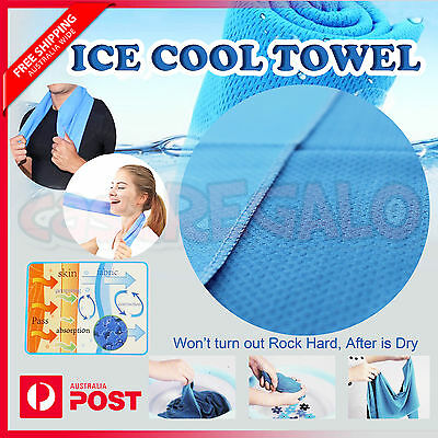 Soft Cooling Towel Ice Cold Odor Reducing Sports Gym Travel Camping Swimming