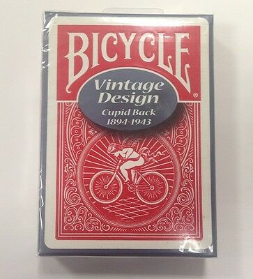 1 RED OHIO-MADE Bicycle Vintage cupid playing cards -S103435-4