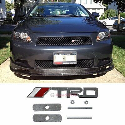 3D Metal Chrome TRD Front Grill Badge Emblem Decal Sticker For Scion