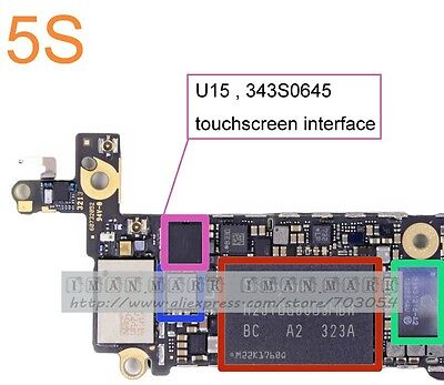 Iphone 5s/5c original touch ic repair service