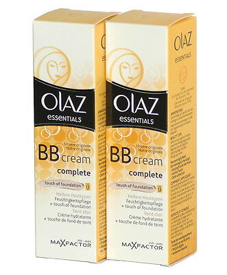 OLAZ Complete BB Cream touch of Foundation HELL 2 x 50ml   (100ml=11,90)