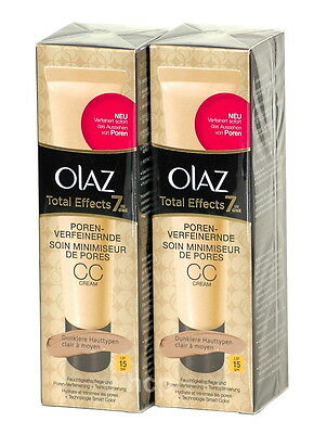 OLAZ Total Effects 7in1, porenverfeinernde CC Cream LSF15 2x50ml (100ml=17,80)
