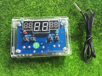 12V Digital LED Temperature Controller 10A Thermostat Control Switch Probe +CASE