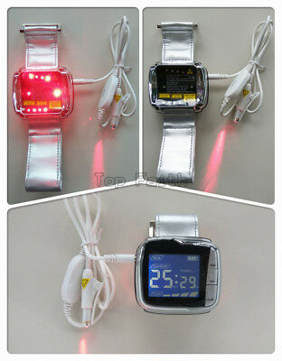 NEW 11 diodes Wrist+Nasal Soft Laser Therapy blood glucose LLLT Physiotherapy
