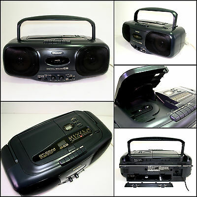 SHARP QT-CD44H Radio CD Cassette Boombox