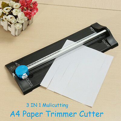 A4 Paper Trimmer Guillotine Paper & Photo Cutter 3 IN 1 Cutting Style Home Tool
