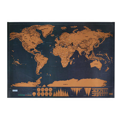 Travel Edition Scratch Off World Map Poster Personalized Journal Map Gifts