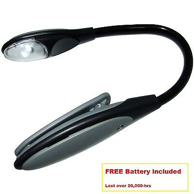 Flexible Led Clip Light Mini Book Reading Lamp - Battery Operated Travel Lamp
