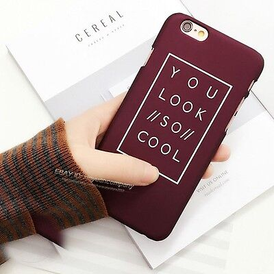 Fashion Letter Matte Hard PC Back Phone Case Cover For Apple iPhone 5s 6s 7 Plus