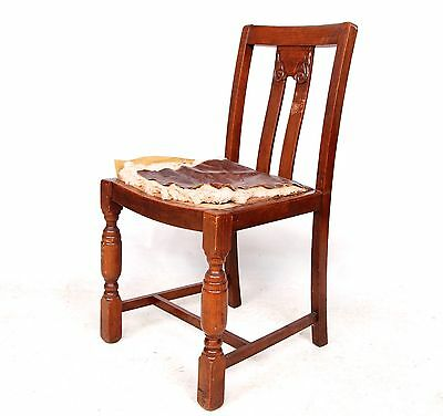 Antique Vintage Oak Dining Chairs Reupholstery Restoration Project