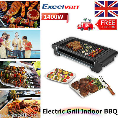Electric Teppanyaki Table Grill Griddle BBQ Indoor Barbecue Garden Camping Cook