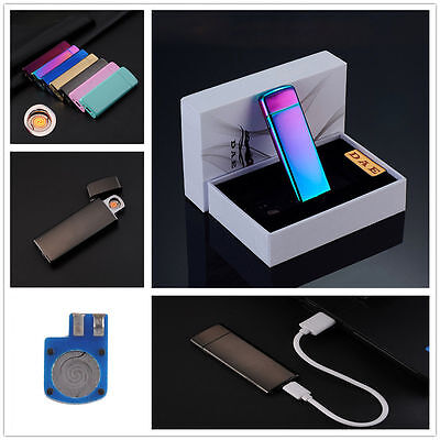 NEW Ultra-thin Flameless Windproof USB Electronic Rechargeable Cigarette Lighter