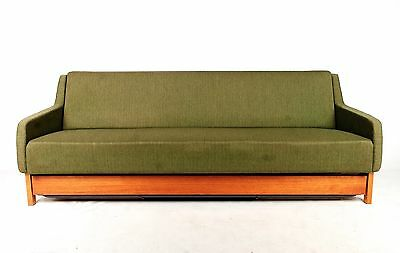 Vintage Danish Sofa Day Bed Sofa Modular Studio Couch Teak Green Double Day Bed
