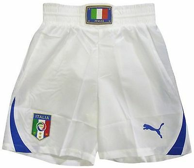 Italy Kids Home & Away Football Shorts 2010-12 Size 28
